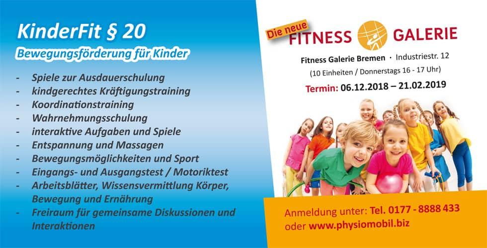 KinderFit § 20 - Bewegungsförderung für Kinder - So macht Bewegung Spaß!