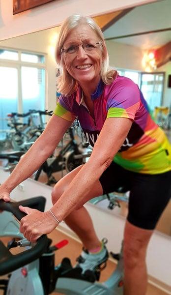 Indoor-Cycling mit Dagmar und Vivian im Wechsel